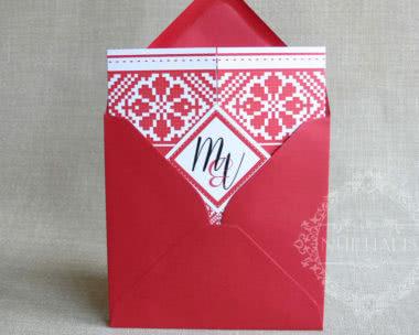 invitatii nunta cu motive traditionale romanesti 5