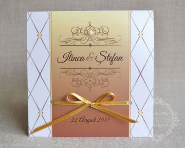 Invitatii nunta aurii, elegante si exclusiviste GALLA - fata