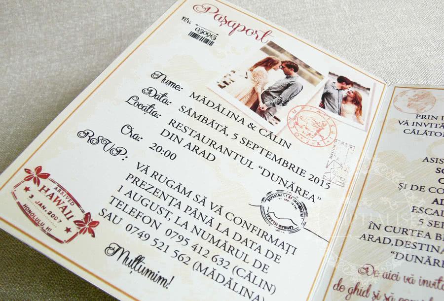 Invitatii Nunta Tip Pasaport Cu Poza Mirilor Liboria Nuptialis