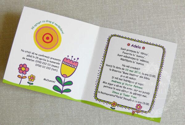 invitatii-botez-fete-cu-flori-si-iepuras-blossom-verde-03-b