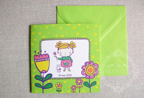 invitatii-botez-fete-cu-flori-si-iepuras-blossom-verde-05-b
