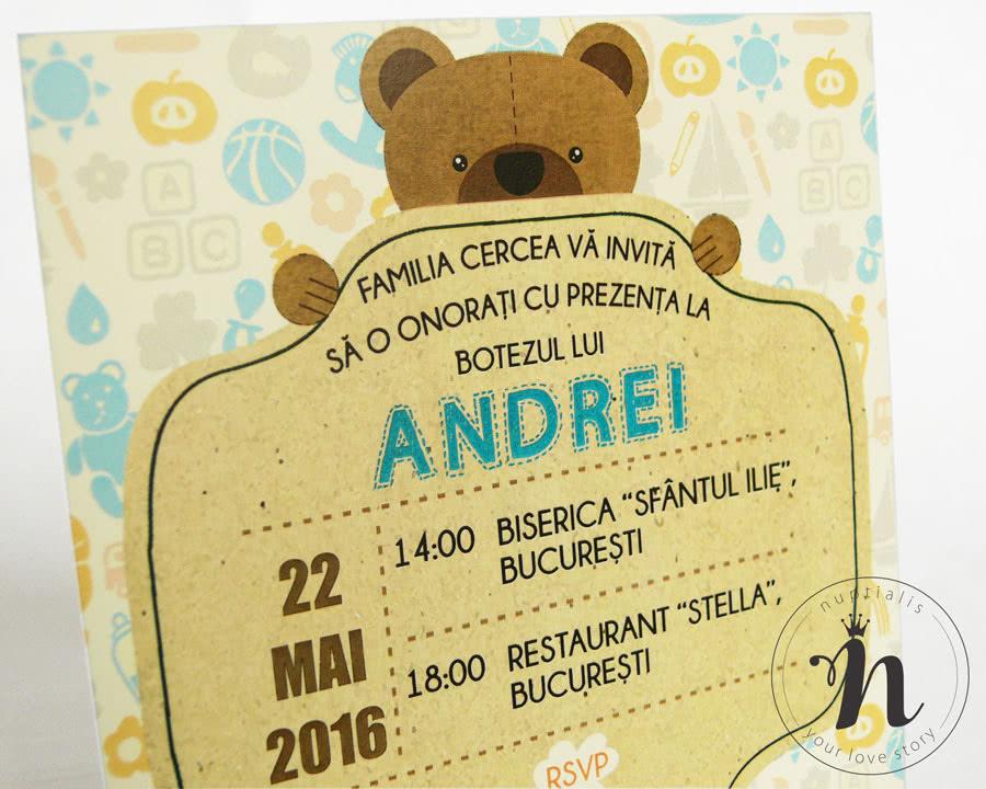 Invitatii Botez Baiat Teddy Bear Invitatii De Botez Cu Ursulet