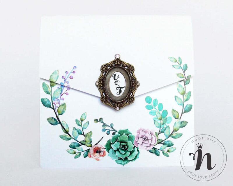 invitatii-nunta-de-lux-vintage-cu-rama-bronz-si-cristale-rhinestone