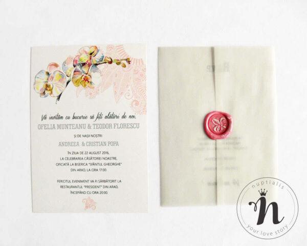 invitatii nunta cu plic din calc si sigiliu