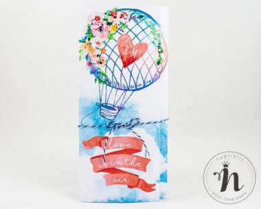 Invitatii Nunta - invitatii nunta calatorie cu balonul celia - fata