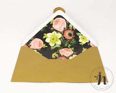 Invitatii nunta - Invitatii nunta cu sigiliu auriu - vedere plic personalizat