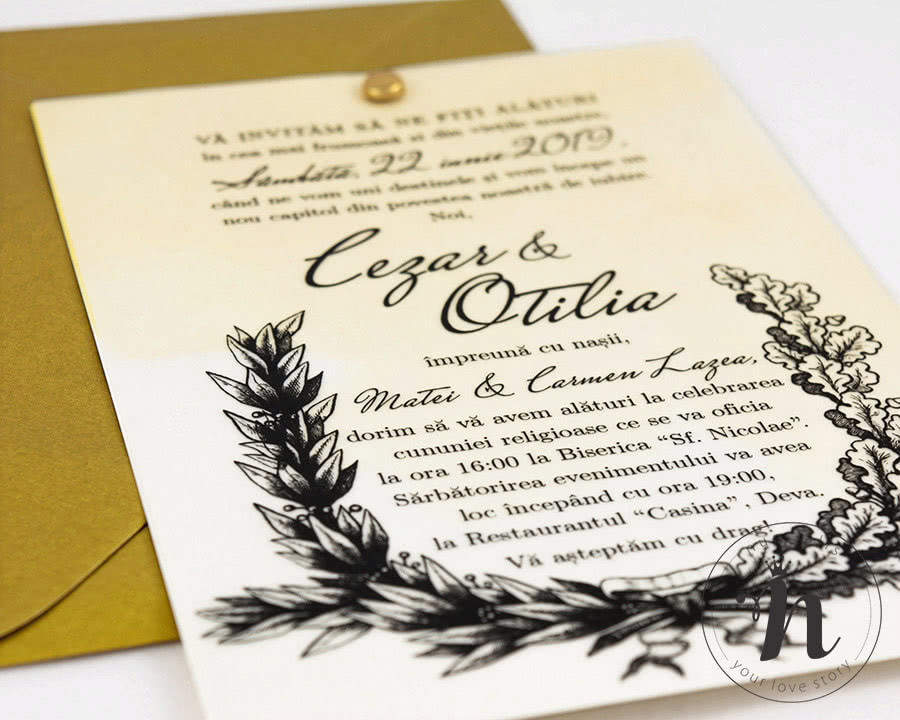 Invitatii Nunta Vintage Petra Invitatii Nuptialisro