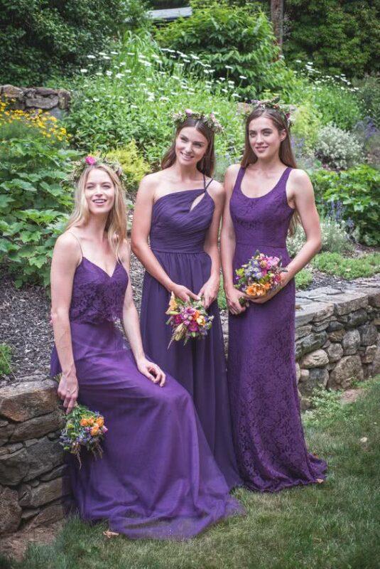 rochii domnisoare de onoare culoarea anului 2018 ultra violet