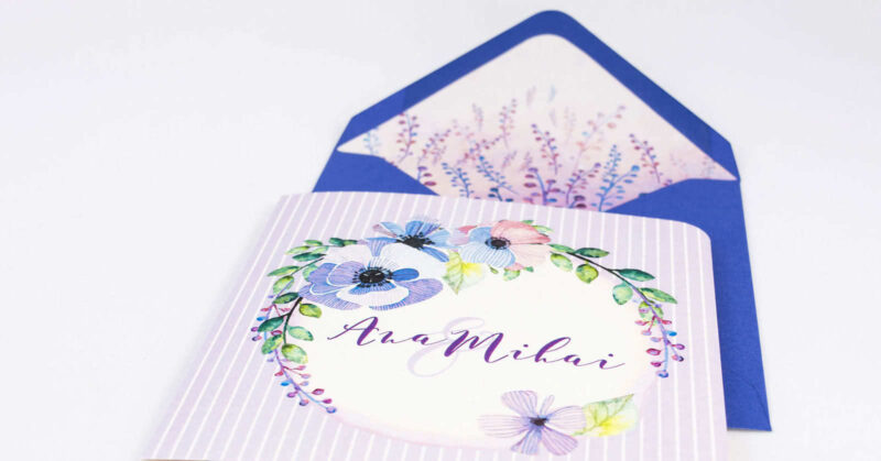 invitatii nunta cu plicuri personalizate detaliu