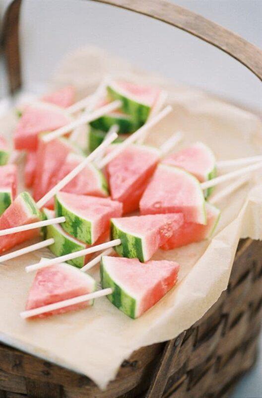 gustari din pepene pentru o nunta de vara
